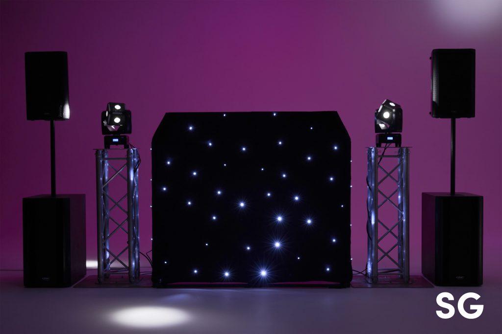 Black Starlit DJ Booth