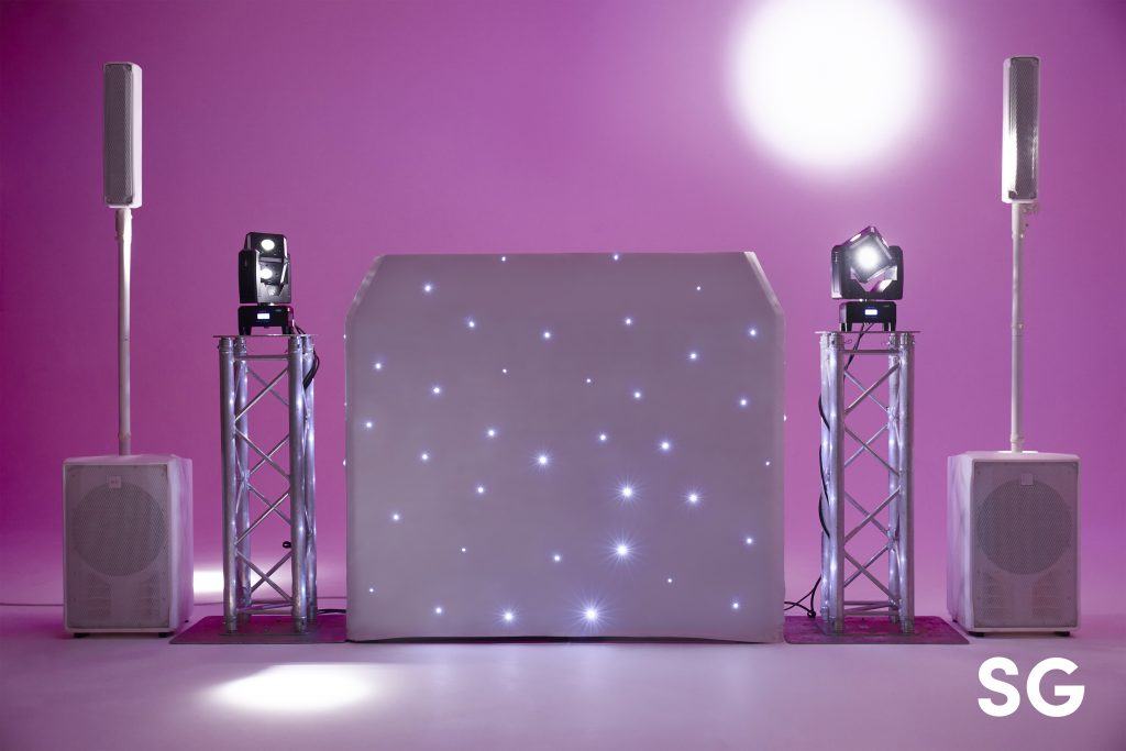 White Starlit DJ Booth